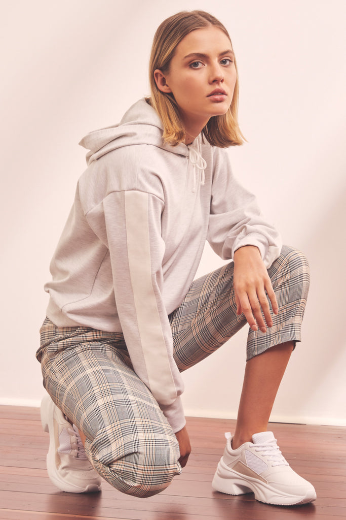 RETREAT HOODIE light grey marle