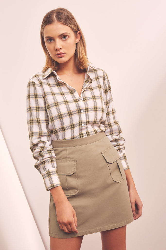 INTERCITY SKIRT sage