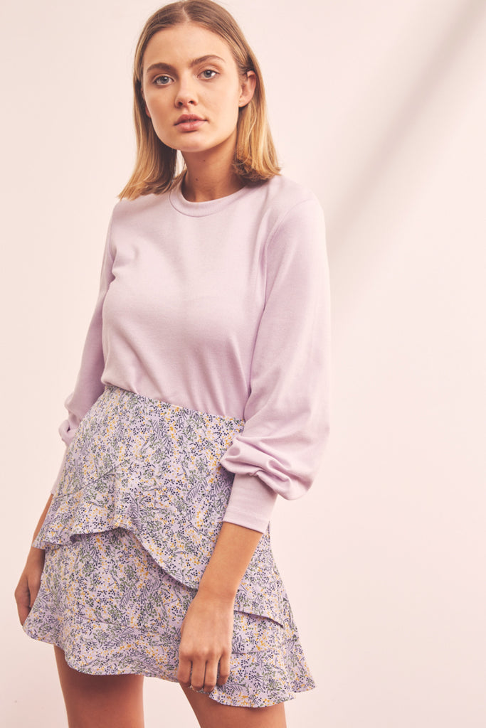 TOWER LONG SLEEVE TOP lilac