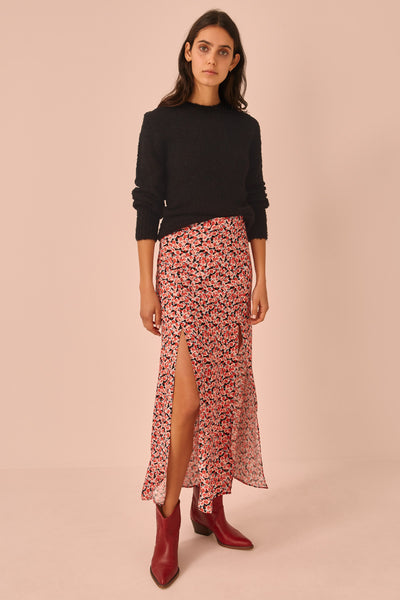 FRESCO SKIRT black rosette