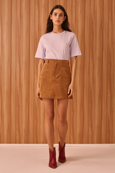 CITYSCAPE SKIRT tan