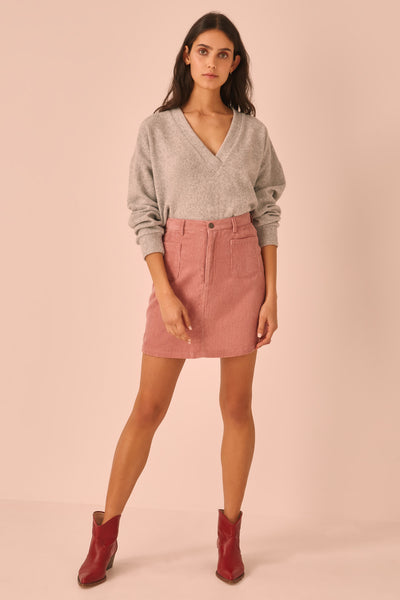 FORMATION LONG SLEEVE TOP grey marle