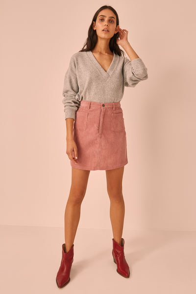 CITYSCAPE SKIRT dusty pink