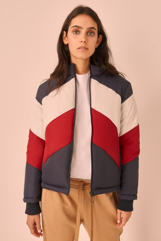 WHISTLER JACKET navy w berry