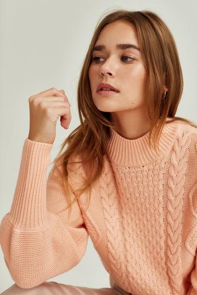 WOODLAND KNIT light peach