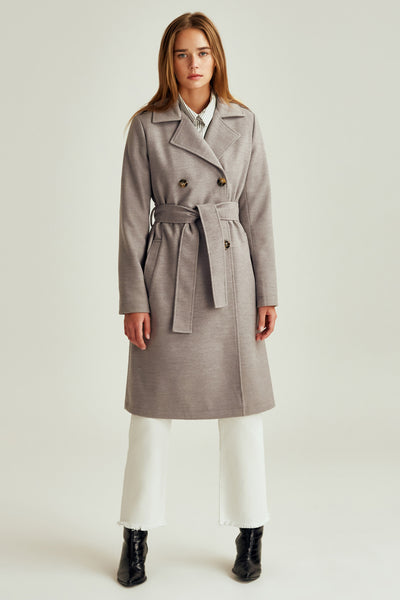 INHABIT COAT light grey marle