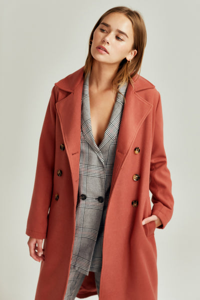 INHABIT COAT cinnamon