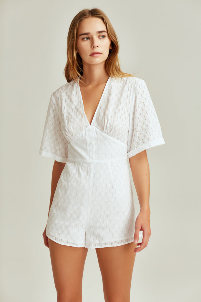 BINOCULAR PLAYSUIT white