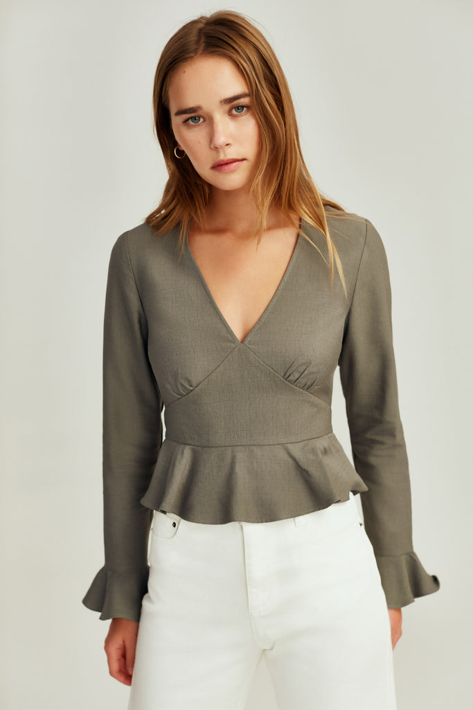 RESERVE LONG SLEEVE TOP sage