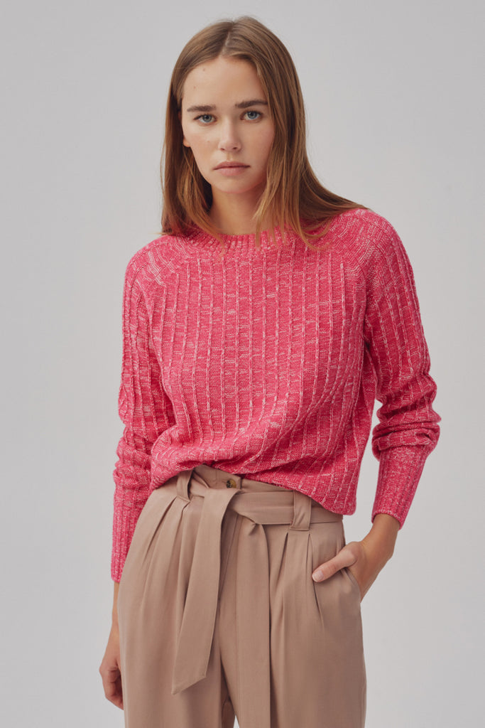ELECTRICITY KNIT pink marle