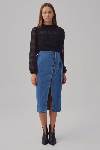 SCENARIO SKIRT mid blue