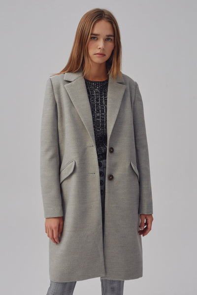 INTERPRETATION COAT grey marle