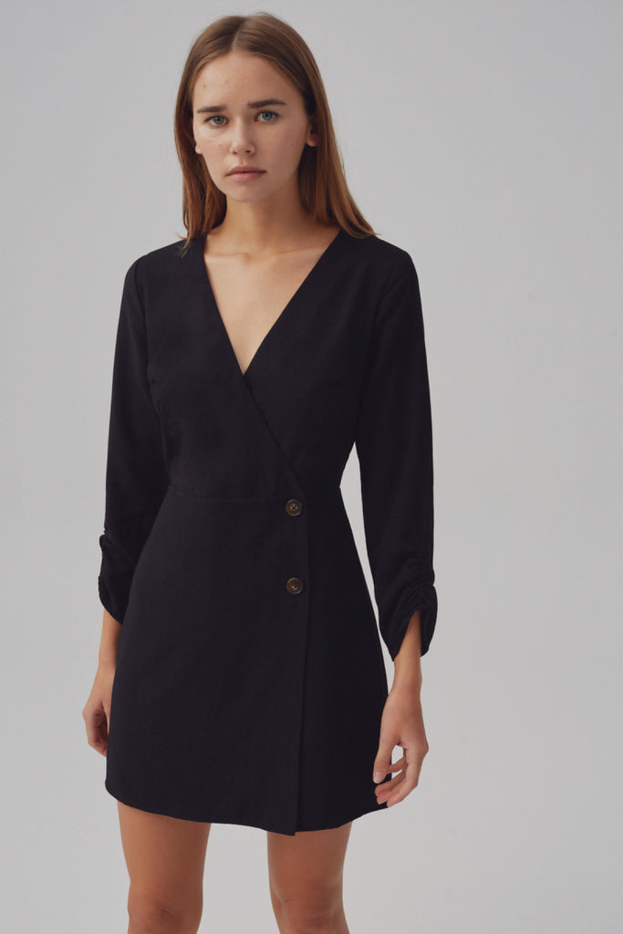 SIGNAL LONG SLEEVE DRESS black