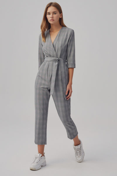 IGNITION CHECK JUMPSUIT black w white