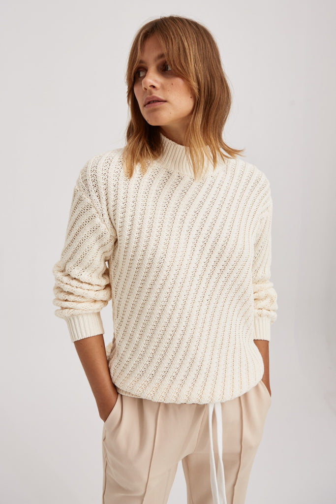 GIDDY KNIT ivory