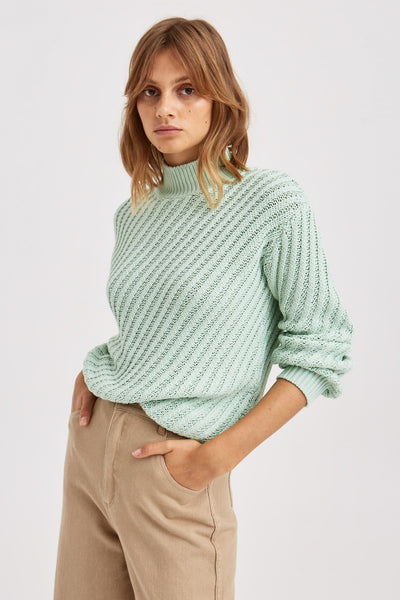 GIDDY KNIT neon mint