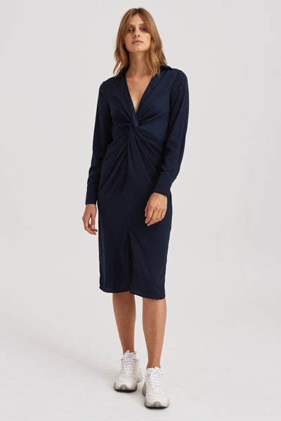 VALLEY MIDI DRESS navy