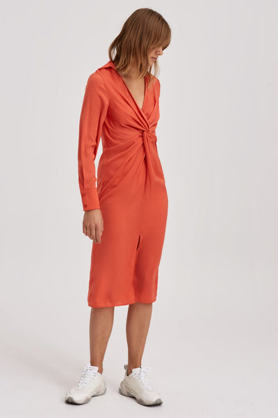 VALLEY MIDI DRESS orange
