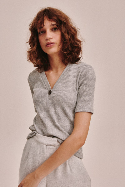 TONAL TOP grey marle