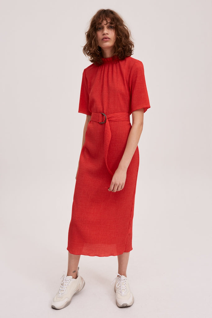 PITCH DRESS red