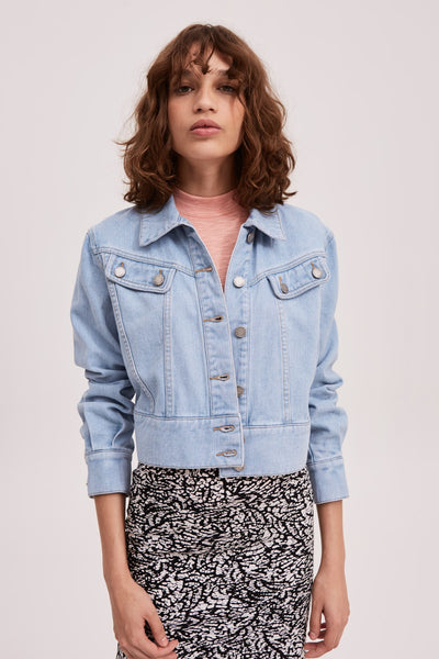 MONOTONE JACKET baby blue