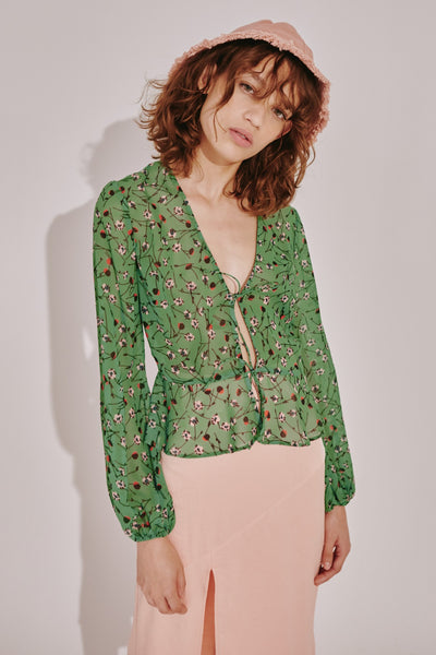 MEDLEY TOP lime floral