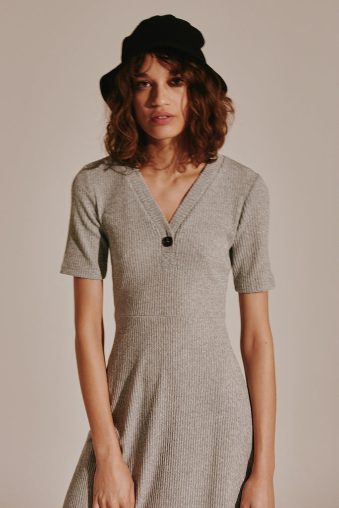 TONAL DRESS grey marle