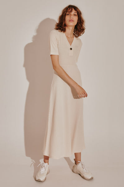 TONAL DRESS cream