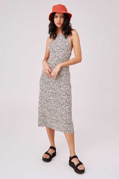 FILM MIDI DRESS cream spot