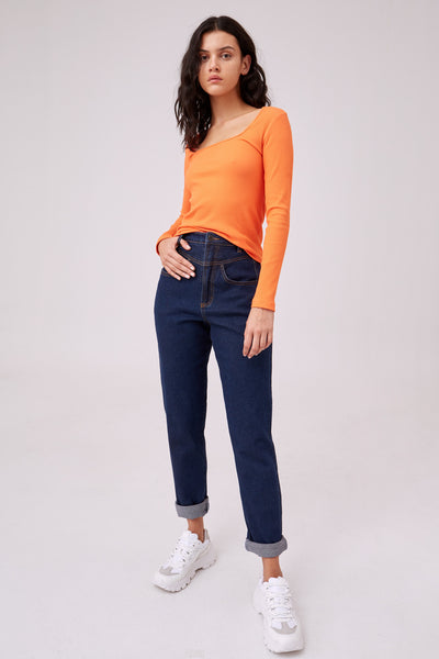 SOLARIZE LONG SLEEVE TOP orange