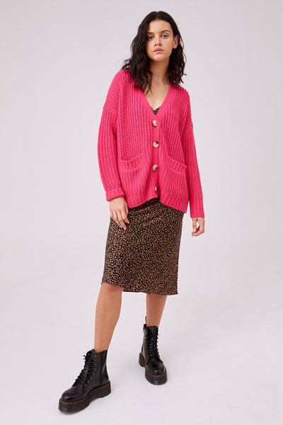 NOVEL KNIT hot pink