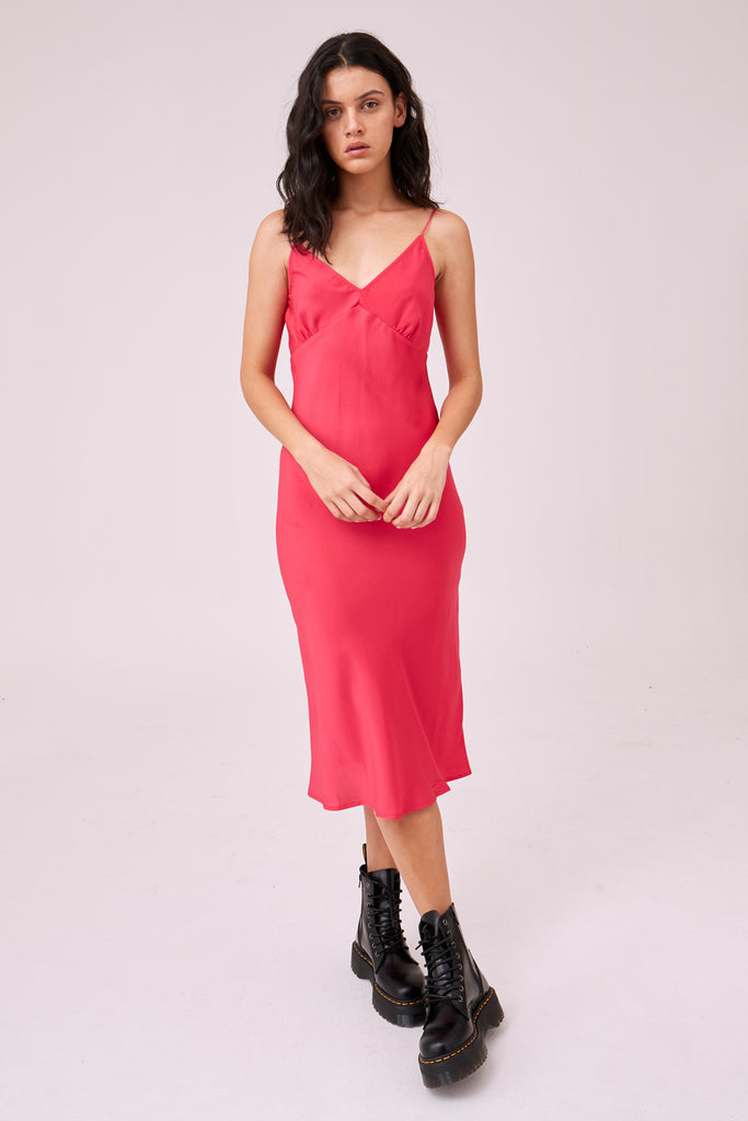 OPTICAL DRESS hot pink
