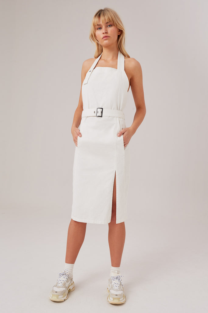 REVIVE DRESS ivory