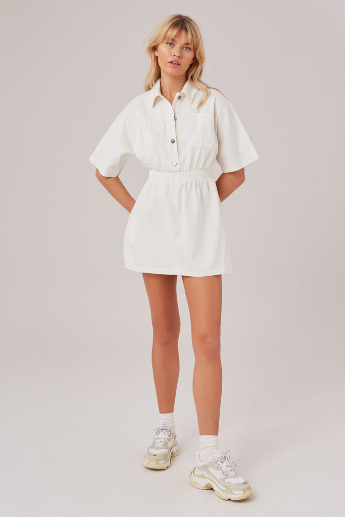 REVIVE MINI DRESS ivory