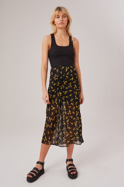 REGION SKIRT black floral