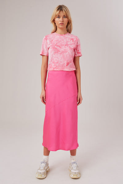 POPULATION SKIRT hot pink