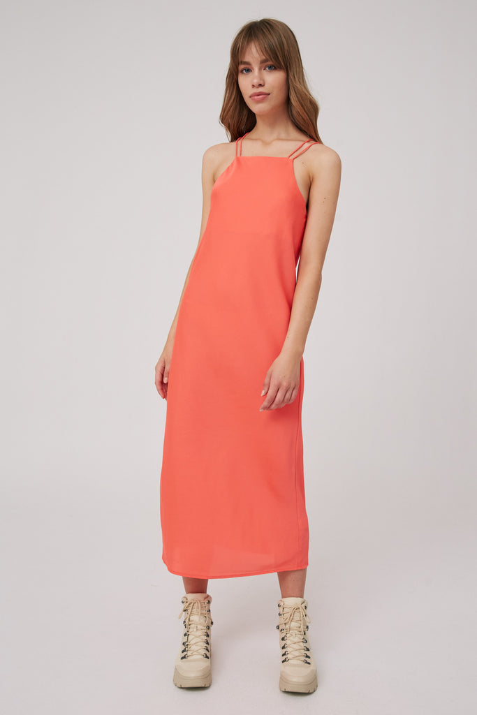 EMPIRE DRESS coral