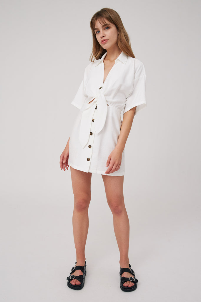 HIDEAWAY MINI DRESS ivory