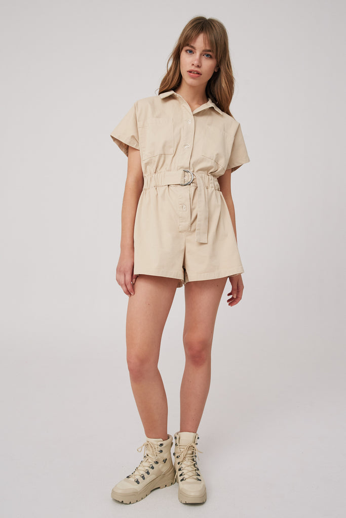 CLOSURE PLAYSUIT nude