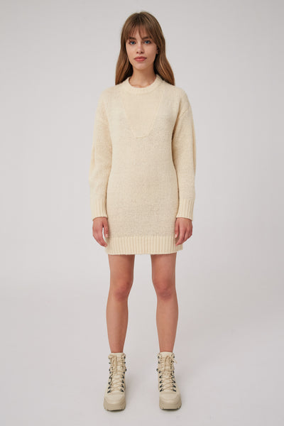 FORUM KNIT DRESS cream