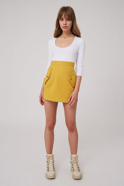 INTENTIONS SKIRT mustard