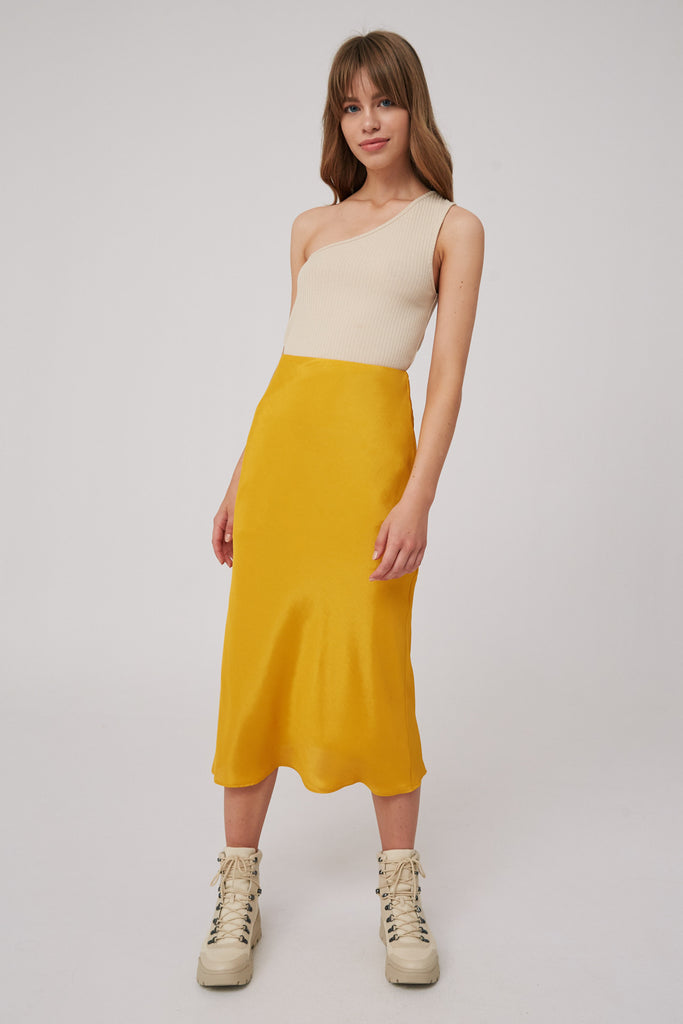 LONG GONE SKIRT mustard