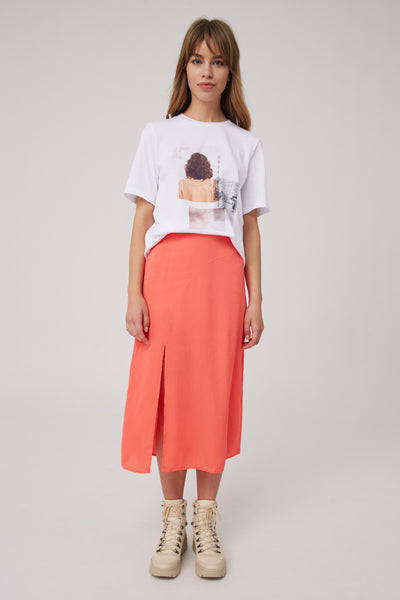 EMPIRE SKIRT coral