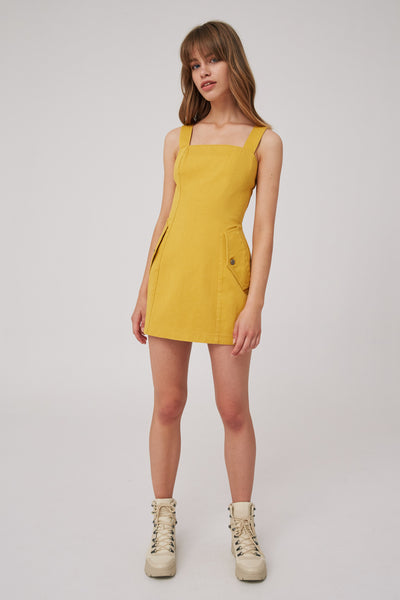 INTENTIONS DRESS mustard