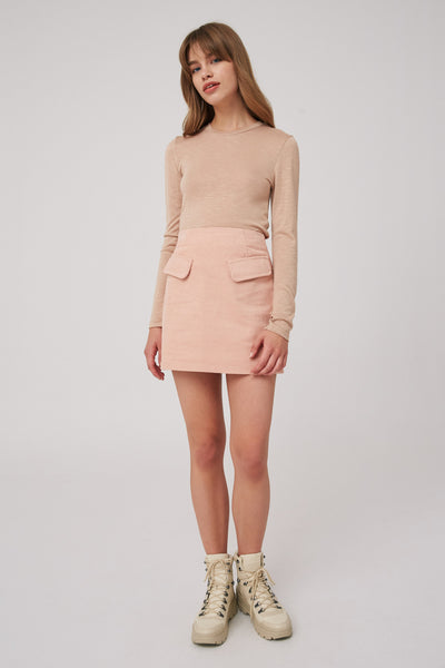 OUTLINE SKIRT pink