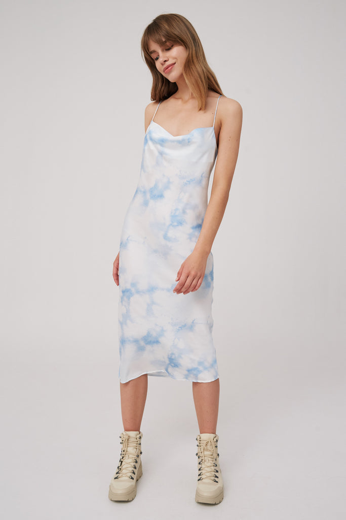 SOUND DRESS blue tie dye