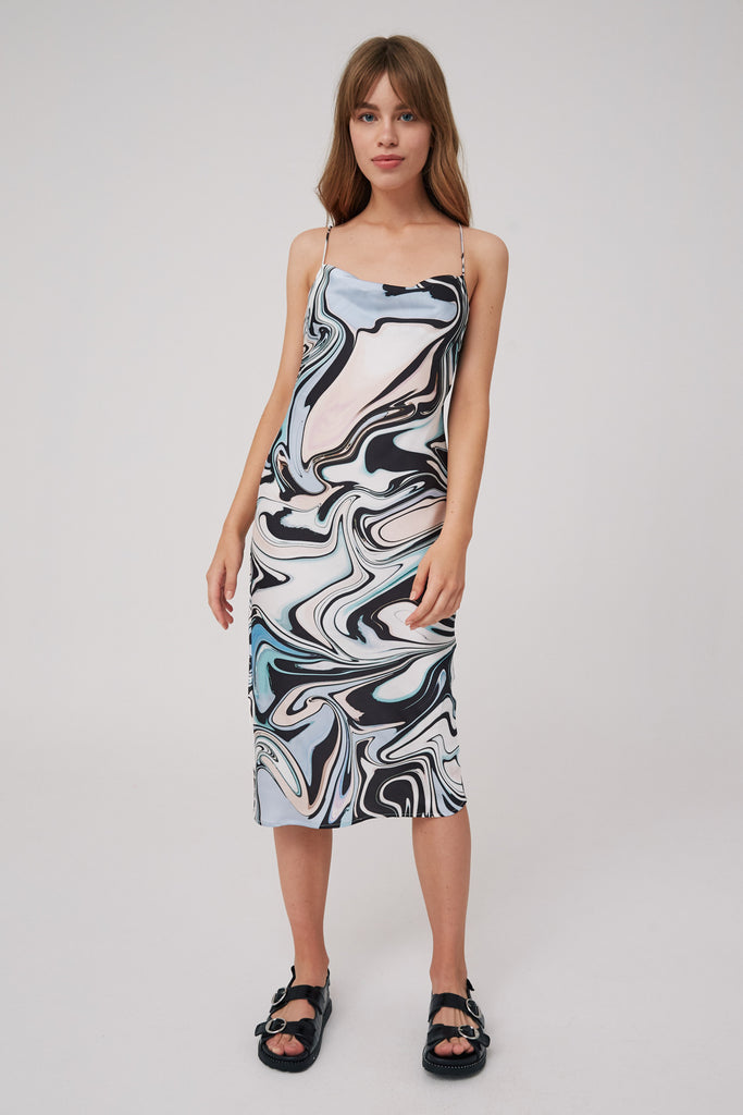 SOUND DRESS black swirl