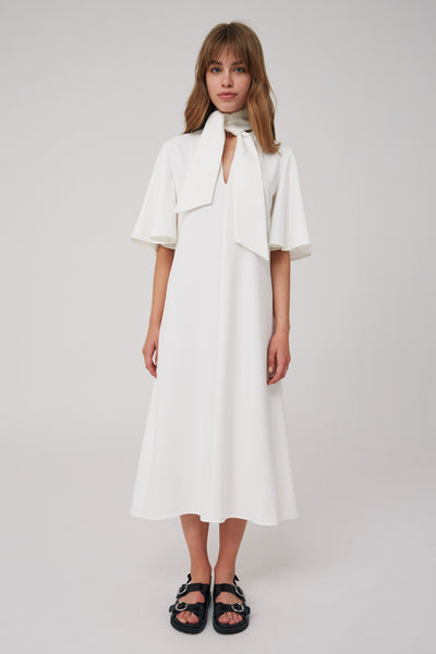 BELIEVE MIDI DRESS ivory