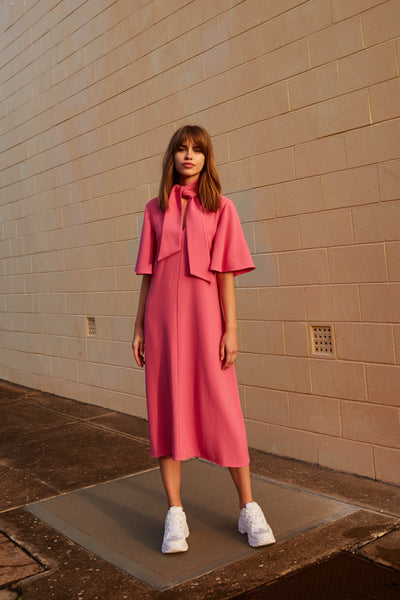 BELIEVE MIDI DRESS pink