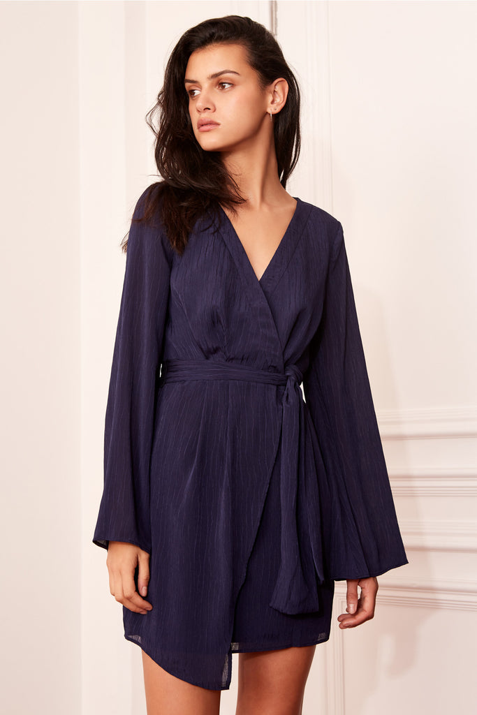 GILDED LONG SLEEVE DRESS navy